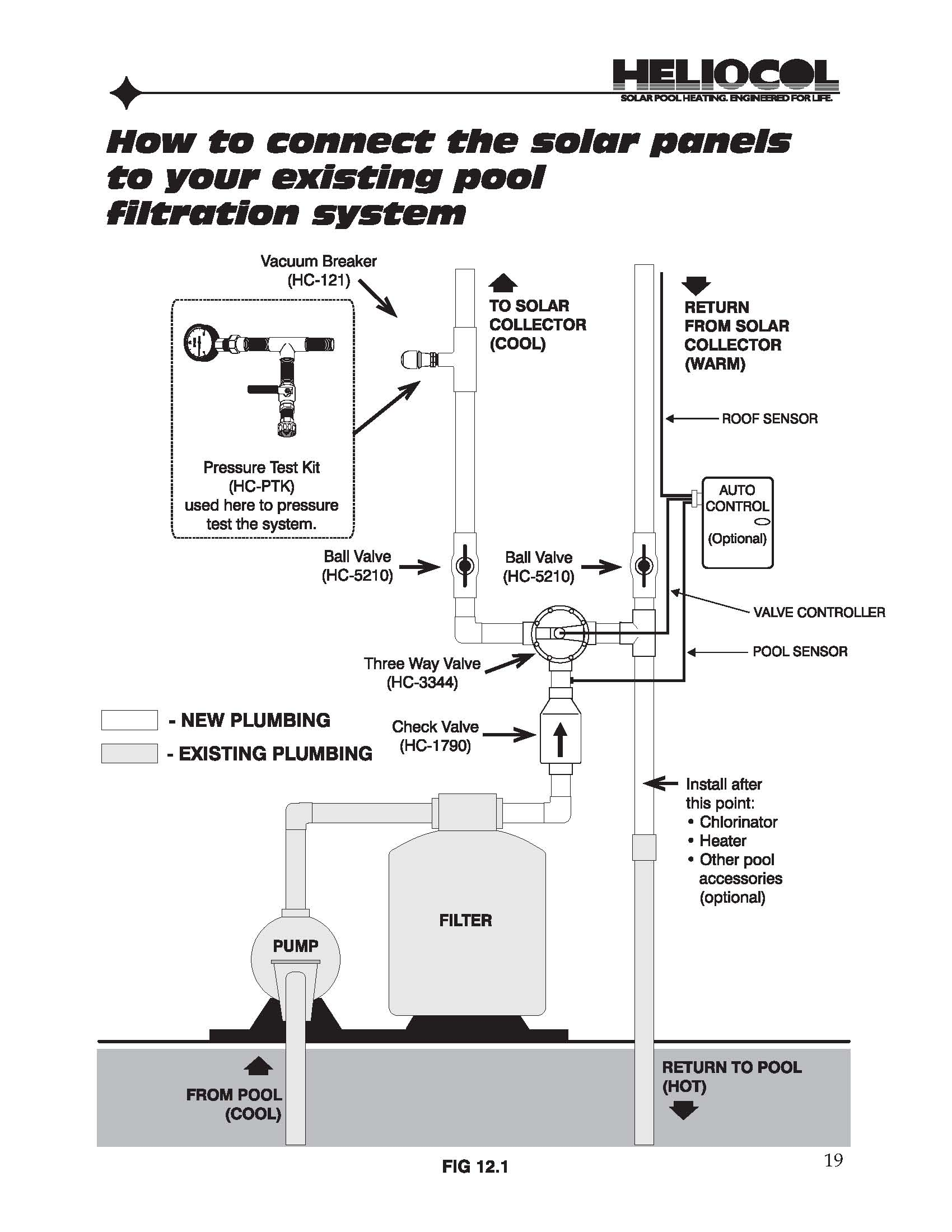 solar pool heater schematic
